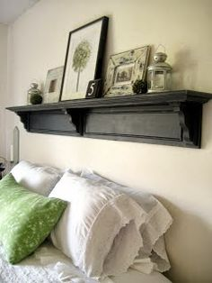 Driven By Décor: Bedroom Design Ideas: Decorating Above Your Bed....love this bookshelf & design