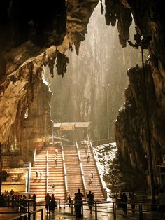 Batu Caves, Malaysia.The cave is one of the most popular Hindu shrines outside India, dedicated to Lord Murugan. It is the focal point of Hindu festival of Thaipusam in Malaysia.