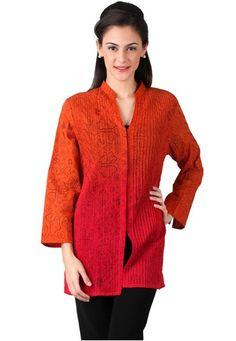 Model Baju Kerja Batik Lengan Panjang Wanita