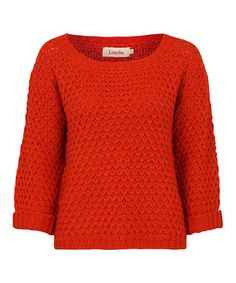 Take a look at this Red Wool-Blend Popcorn Sweater by Louche on #zulily today!