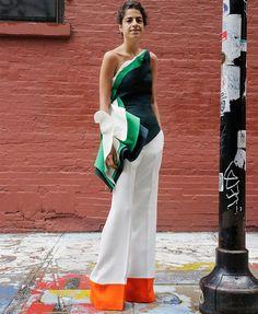 leandra medine look street style calça branca blusa