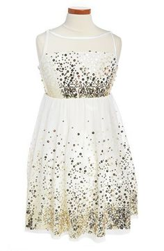 For @Kristie Bushby ...adorable! Roxette Sequin Mesh Dress (Big Girls) available at #Nordstrom