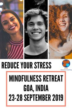 Attend a GEC retreat - break out of your routine and disconnect from the pressures of your everyday life. Mindfulness Retreat, Positive Mental Health, Mindfulness Techniques, Reduce Stress, Goa, Routine, Coaching, Motivation, Education