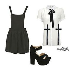 ASOS Fashion Finder   Large Black Cross Earrings