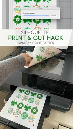Silhouette Print and Cut Hack - 3 Ways to Print Faster Print And Cut Silhouette, Plotter Silhouette Cameo, Silhouette School Blog, Silhouette Cameo Tutorials, Silhouette Curio, Silhouette Vinyl, Silhouette Portrait, Silhouette Machine, Silhouette Projects