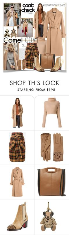 """""""Camel Coat"""" by sweetdee55 ❤ liked on Polyvore featuring Apiece Apart, Daniel Wellington, Valentino, Erdem, Faith Connexion, Burberry, Joseph, Maje and Christian Louboutin"""