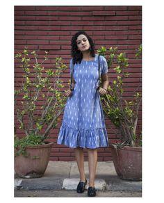 Stylish Dresses For Girls, Stylish Dress Designs, Designs For Dresses, Simple Dresses, Casual Dresses, Casual Cotton Dress, Cotton Summer Dresses, Cotton Dress Indian, Simple Frocks