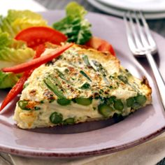 Asparagus, New Potato and Chive Frittata Recipe | Weight Watchers Canada
