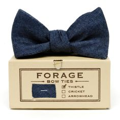 Forage - Indigo Denim Bow Tie