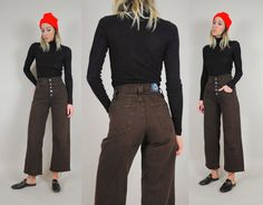 Etsy の Wide leg Sailor Jeans 25x26 by NOIROHIOVINTAGE