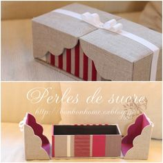 excite エキサイト : ブログ(blog) Diy Gift Box, Diy Box, Diy Gifts, Organiser Box, Earring Storage, Jewelry Storage, Fabric Covered Boxes, Creative Box, Carton Mousse