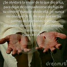 Isaias 49: 15-16 RVR1960