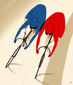 Leo Espinosa - bike racing velodrome, bicycle art