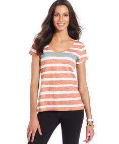 Style & Co. Short-Sleeve Striped Tee