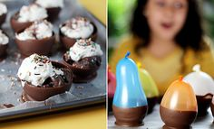 This project says it's for kids, but I'm totally in - chocolate cups made with balloons?! Awesome.