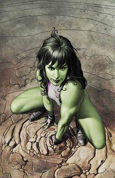 She-Hulk Cover: She-Hulk Crouching Marvel Comics Poster - 30 x 46 cm Hulk Marvel, Ms Marvel, Marvel Girls, Marvel Heroes, Avengers, Heros Comics, Marvel Comics Art, Bd Comics, Comics Girls