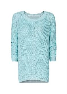 Mint green jumper - would look great with the not-yet-found caramel leather shorts I'm still looking for.... MANGO $69.99