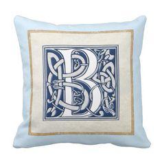 Reversible Celtic B Initial Cushion