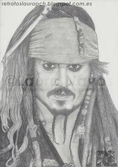 Retratos Laura pCh: Jack Sparrow (Johnny Deep) Piratas del Caribe