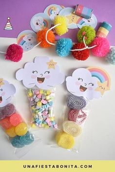 Ideas For Baby Shower Decoracion Arcoiris Rainbow Birthday Party, Baby Birthday, Birthday Parties, Cloud Party, Baby Shawer, Party Kit, Rainbow Baby, Student Gifts, Unicorn Party