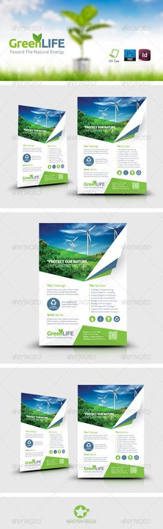 Green Energy Flyer Template PSD | Buy and Download: http://graphicriver.net/item/green-energy-flyer-templates/8696344?WT.ac=category_thumb&WT.z_author=grafilker&ref=ksioks