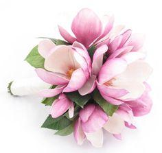 Magnolia Wedding Bouquet Images | Mauve magnolia bouquet by Loveflowers | Wedding flowers to love & che ...