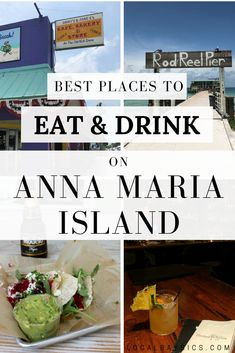 There things to do on Anna Maria Island beyond just going to the beach. The food scene on Island is actually very impressive. These are the must-try restaurants and bars on Anna Maria Island from a local. Visit Florida, Florida Vacation, Florida Travel, Vacation Places, Vacation Ideas, Vacations, Anna Maria Beach, Anna Maria Island, Anna Maria Florida