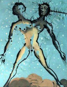 'Gemini' by Salvador Dali  Art Experience NYC  www.artexperiencenyc.com/social_login/?utm_source=pinterest_medium=pins_content=pinterest_pins_campaign=pinterest_initial