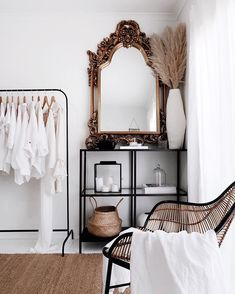 Parisian minimalist room + closet What is Decoration? Decoration could be the art of decorating the interior and … Bedroom Inspo, Home Bedroom, Bedroom Mirrors, Bedroom Ideas, Parisian Bedroom Decor, Master Bedrooms, Parisian Chic Decor, Parisian Room, Bungalow Bedroom