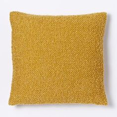 "LOFT Heathered Boucle Pillow Cover in Horseradish $22, 18""SQ"