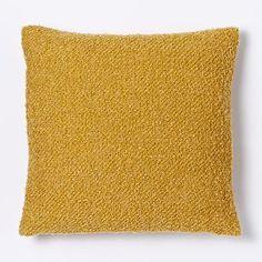 Heathered Boucle Pillow Cover - Horseradish #westelm