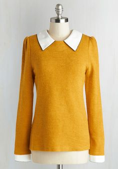 Would be great for Jane Porter. Wine Appreciation Sweater in Goldenrod. Learning about varietals and vintages is a full-bodied experience when you sport this bright-goldenrod, cuffed sweater. Plus Size Sweaters, Cute Sweaters, Vintage Sweaters, Pullover Sweaters, Sweaters For Women, Cardigans, Yellow Clothes, Blazers, Yellow Sweater