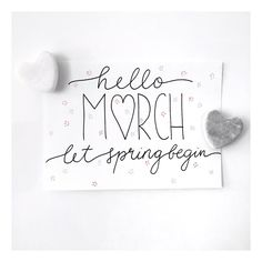 Letter Lovers michilicious: Handlettering Spruch hello march - let spring begin