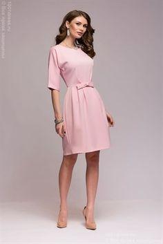 ЛЮБЛЮ ПЛАТЬЯ интернет-магазин платьев - Платье розовое длины мини с рукавами