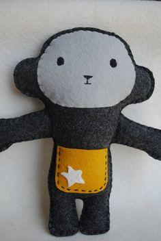 Cheeky Monkey Tooth Fairy Pillow ~ so cute!