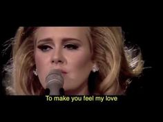 Beautiful lady, beautiful song, beautiful voice. Adele- To Make You Feel My Love.
