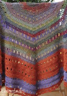 Eva s Shawl Crochet Pattern : Crochet and a little knitting on Pinterest Crochet Shawl ...