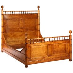 19th Century American Faux Bamboo Full Size Bed | From a unique collection of antique and modern beds at https://www.1stdibs.com/furniture/more-furniture-collectibles/beds/