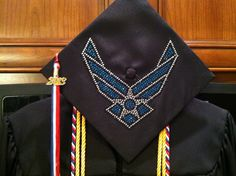 Air Force rhinestone mortarboard :] THANK YOU, Montgomery GI Bill!