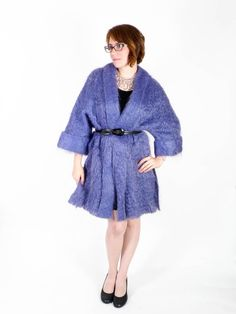 SALE  FREE SHIP Vintage 70's Mohair Coat // Soft by SwellFarewell, $110.00