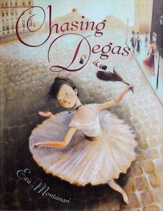 Making Cheating Chocolate Croissants and reading the great Chasing Degas picture book, by Eva Montanari