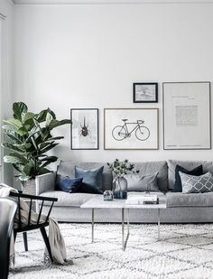 Grey Small Living Room Apartment Designs to Look Amazing - Salon Decor Design Living Room, Living Room Grey, Living Room Interior, Home Living Room, Living Room Furniture, Living Room Decor, Living Room With Plants, Hemnes, Living Room Inspiration