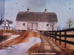 """Grandpap's Barn Canvas Print Large $12.80. Billy Jacob print, canvas and wood, measures 12"""" x 16""""."""