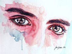 watercolor & white ink on 300 g artist paper, 30 x 21 cm, May 2012 Original painting: sold. PRINT SHOP Other works: Watercolor tutorials: EYES TUTOR. Eye study in flesh tone Watercolour Tutorials, Watercolor Techniques, Art Techniques, Watercolor Eyes, Watercolor Portraits, Watercolor Lesson, Watercolor Paintings, Eye Study, Eye Painting