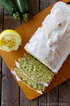 Recipe: Glazed Lemon Poppy Seed Zucchini Bread - Taste and Tell Best Zucchini Bread, Zucchini Bread Recipes, Zucchini Loaf, Zucchini Lasagna, Cookies, Relleno, Love Food, Fun Food, Food To Make