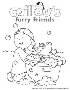 caillou s family fun coloring sheet caillou activities