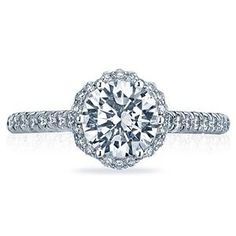 Shop online TACORI HT2547RD7 Halo 18K - White Gold Diamond Engagement Ring at Arthur's Jewelers. Free Shipping