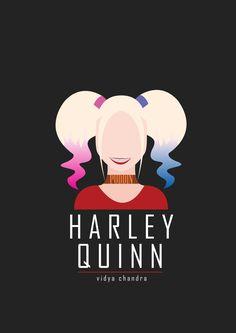 Harley Quinn flat design