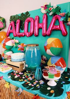 Childrens Luau First Birthday Party Hawaii Theme