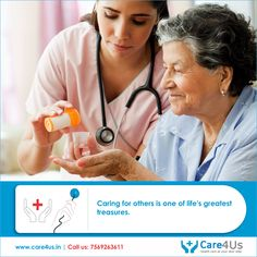 Care4us at Hyderabad offers home nurse care & professional care giving to chronically ill and bed ridden seniors. Get a Professional nurse care giver services at your home.